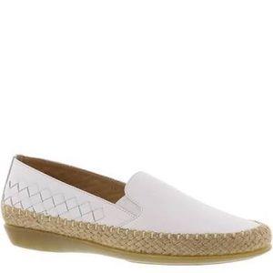 Vaneli Sport White loafer w/ espadrille bottom